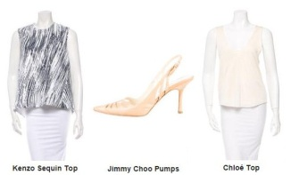 Sept1 Chloe Top, Jimmy Choo, Kenzo Sequin Top