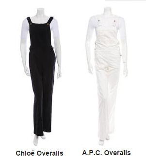 Chloe and APC overalls