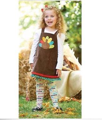 Nov Mud Pue Thanksgiving Set Turkey Jumper Dress