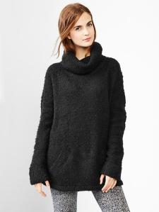 Boucle turtleneck sweater