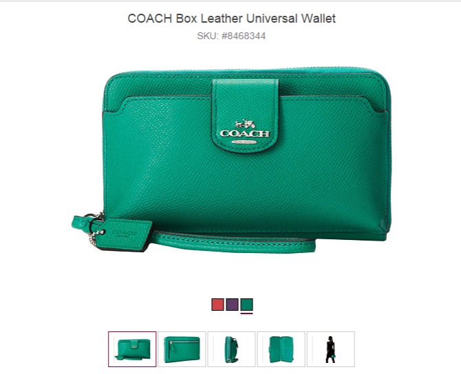 COACH Box Leather Universal Wallet